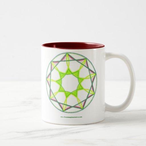 Mandala del logro taza de dos tonos