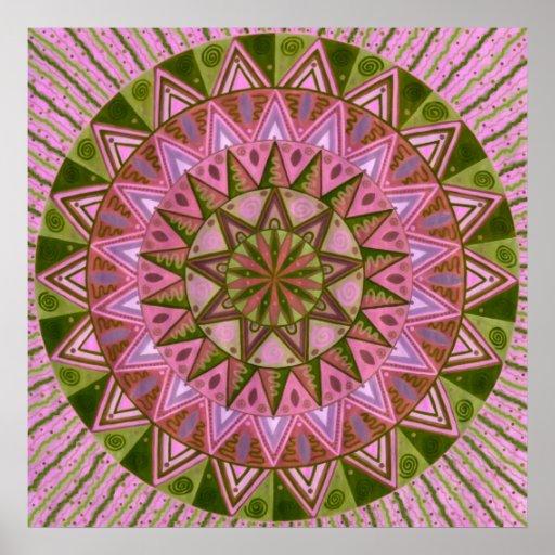 Mandala del mazapán póster