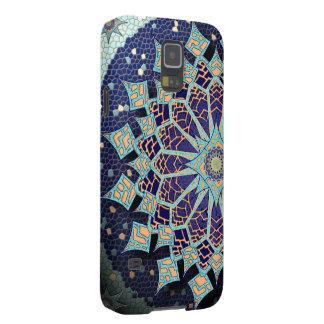 Mandala del mosaico en caja azul del teléfono carcasa galaxy s5