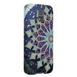 Mandala del mosaico en caja azul del teléfono funda de galaxy s5