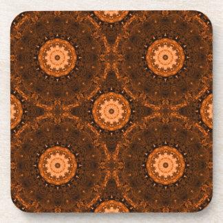 Mandala del naranja y de Brown Posavasos De Bebidas