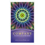 Mandala del ojo de la flor tarjeta personal