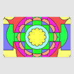 Mandala del optimismo pegatina rectangular