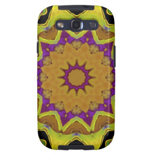 Mandala del oro de Sun de la caja del corazón Galaxy S3 Cobertura