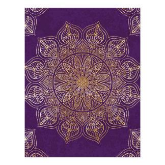 Mandala del oro membrete personalizado