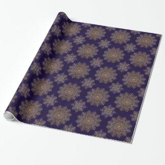Mandala del oro papel de regalo