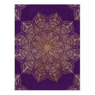 Mandala del oro tarjeta postal