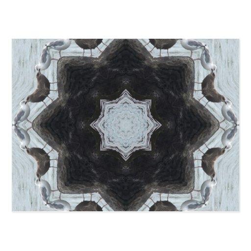 Mandala del pájaro de la gaviota postal