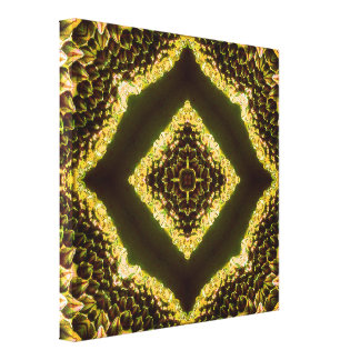 Mandala del panal lienzo envuelto para galerías
