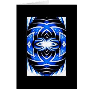 Mandala del parachoque del coche del cromo tarjeta de felicitación