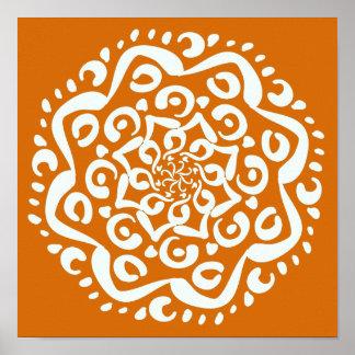 Mandala del pastel de calabaza póster