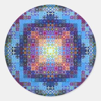 Mandala del pegatina de la alegría y de la