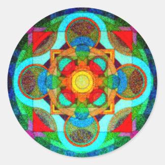 Mandala del pegatina positivo de la energía