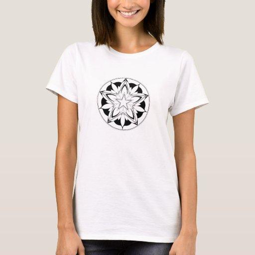 Mandala del Pentagram para colorear V.1 Playera