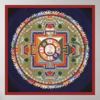 Mandala del POSTER de la compasión - saliendo del