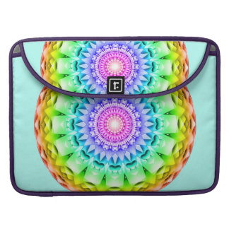 Mandala del pulso del arco iris fundas para macbook pro
