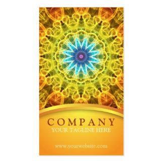 Mandala del ramo de la flor tarjetas de visita