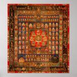 Mandala del reino de la matriz poster
