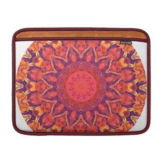 Mandala del resplandor solar - danza abstracta del funda para macbook air