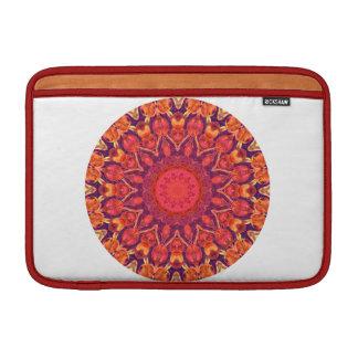 Mandala del resplandor solar - danza abstracta del fundas para macbook air