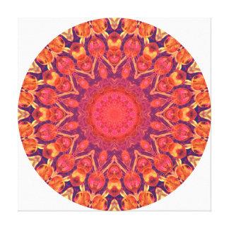 Mandala del resplandor solar - danza abstracta del impresiones en lona