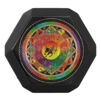 Mandala del sagitario de la muestra del zodiaco altavoces bluetooth negros boombot REX