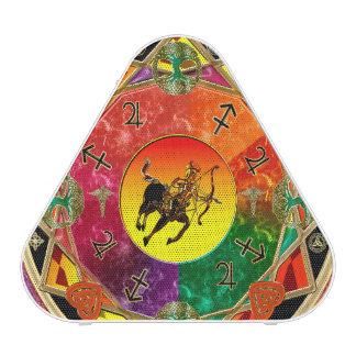 Mandala del sagitario de la muestra del zodiaco altavoz bluetooth