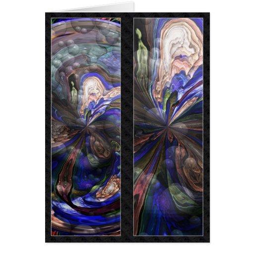 Mandala del Simmer - el doble echó a un lado tarje Tarjeta De Felicitación