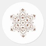 Mandala del tatuaje de la alheña pegatinas