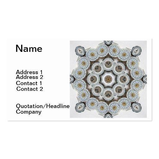 Mandala del tiempo tarjetas de visita