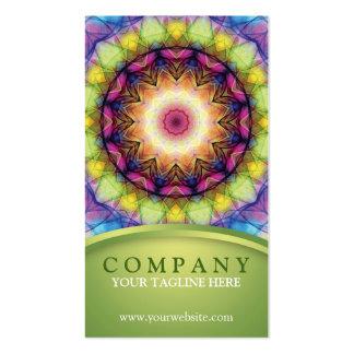 Mandala del vidrio del arco iris tarjetas de negocios