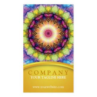 Mandala del vidrio del arco iris tarjetas de visita