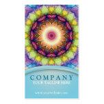 Mandala del vidrio del arco iris plantilla de tarjeta de visita