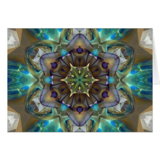 Mandala del vidrio del mar tarjeta de felicitación