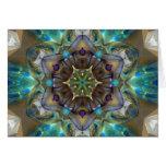 Mandala del vidrio del mar tarjeton