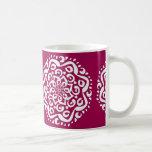 Mandala del vino taza de café