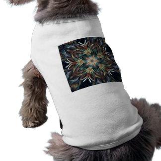 Mandala delicada deliciosa de la pluma playera sin mangas para perro