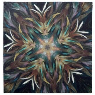 Mandala delicada deliciosa de la pluma servilleta de papel