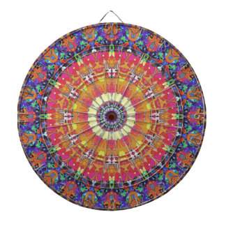 Mandala Design 4 Dart Boards