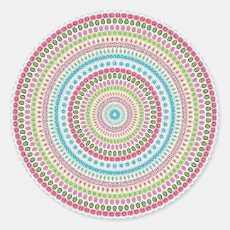 Mandala Design Classic Round Sticker