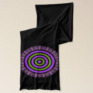 Mandala design on a black scarf. scarf