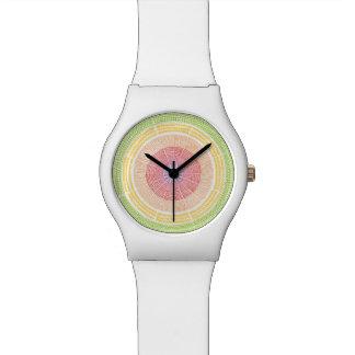 Mandala dibujada mano reloj de mano
