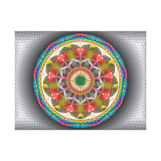 Mandala Diligence - Impression in canvas