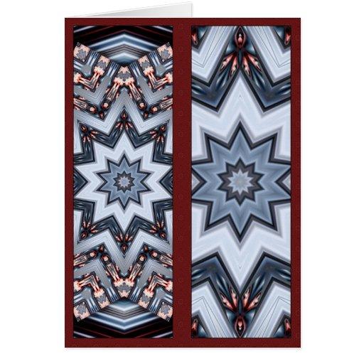 Mandala doblada de los ángulos • El doble echó a u Tarjeta De Felicitación
