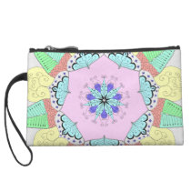 Mandala Doodling Art Pattern Design drawing clutch