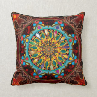 Mandala Droplets Pillow