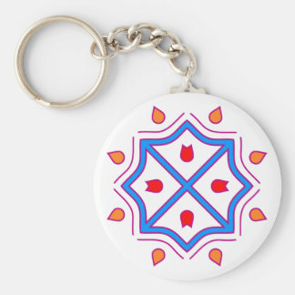 Mandala eight-hit a corner octagon keychain
