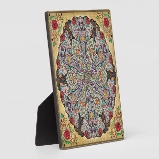 Mandala Elephants Plaque with Easel