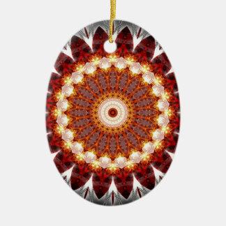 Mandala ement fire created by Tutti Ceramic Ornament