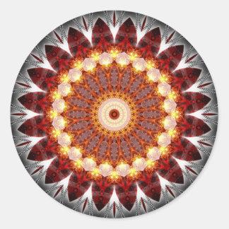 Mandala ement fire created by Tutti Classic Round Sticker